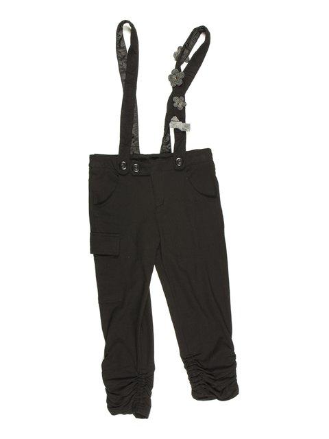 Капри черные на шлейках Pinogemelli 629042