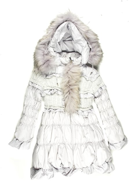 Пальто светло-серое De Salitto 629045