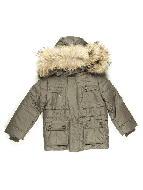 Куртка кольору хакі De Salitto 629058