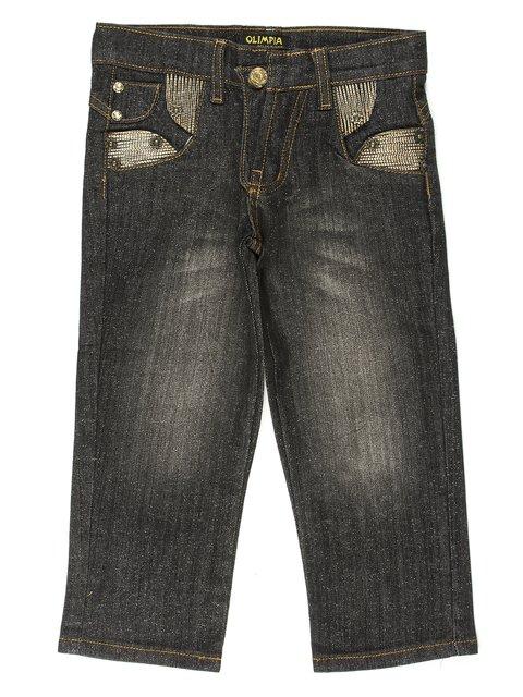 Капри черные джинсовые Olimpia 649111