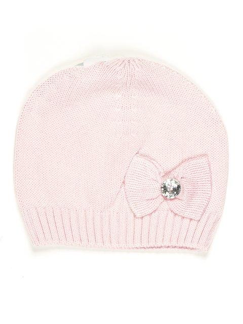 Шапка светло-розовая с бантиком Dudula 677989