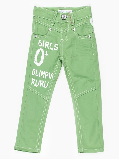 Штани світло-зелені з написами Olimpia 467824