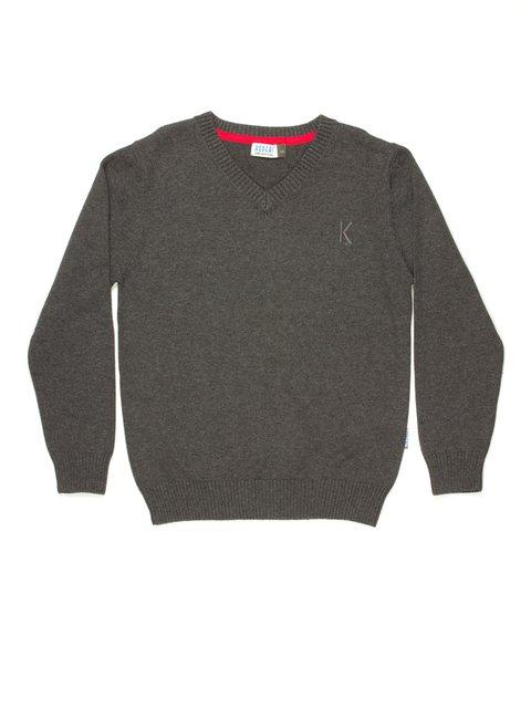 Пуловер темно-сірий Kodeks 514002