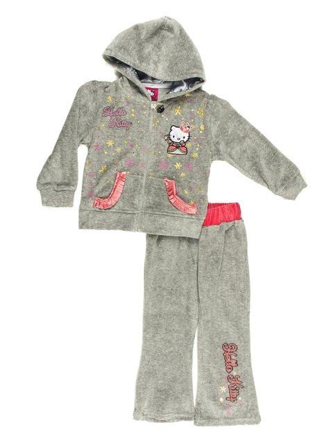 Костюм спортивный велюровый: толстовка и брюки Hello Kitty 677908