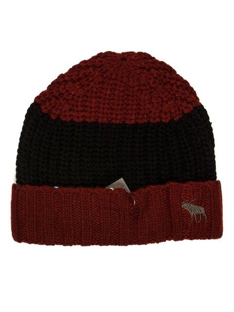 Шапка бордово-черная Abercrombie&Fitch 623496