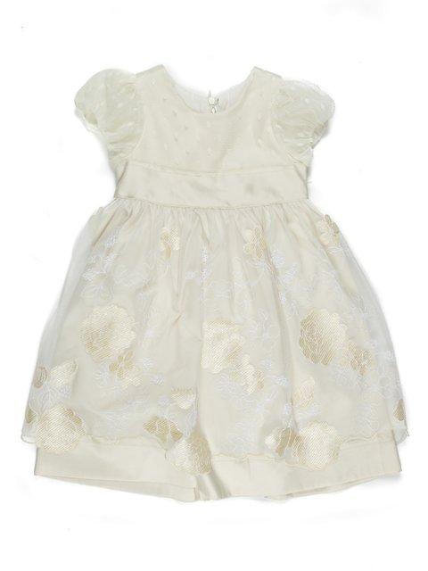 Платье бежевое с вышивкой De Salitto 711726