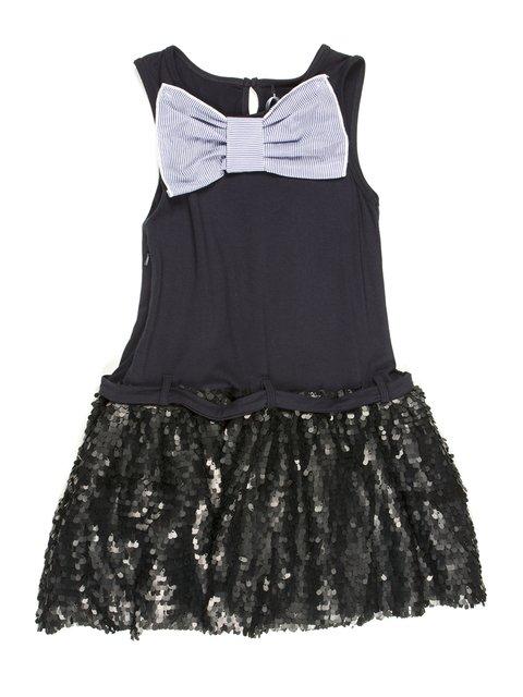 Платье темно-синее декорированное с бантиком Pinetti 711744