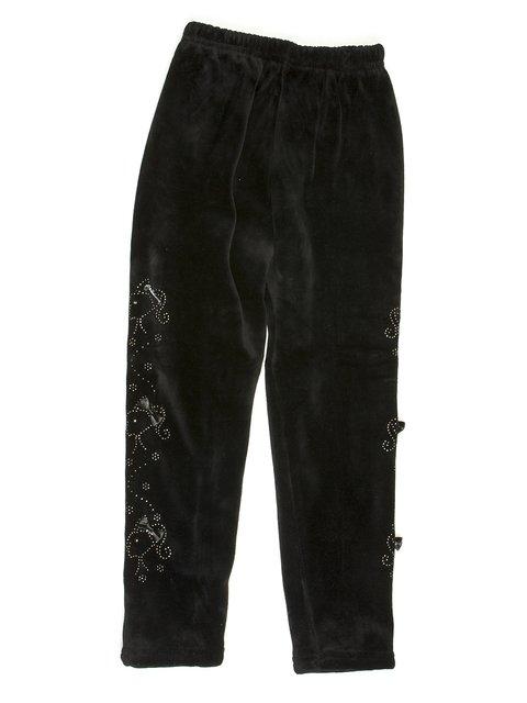 Леггинсы черные велюровые с декором Ka er ku bi 576734