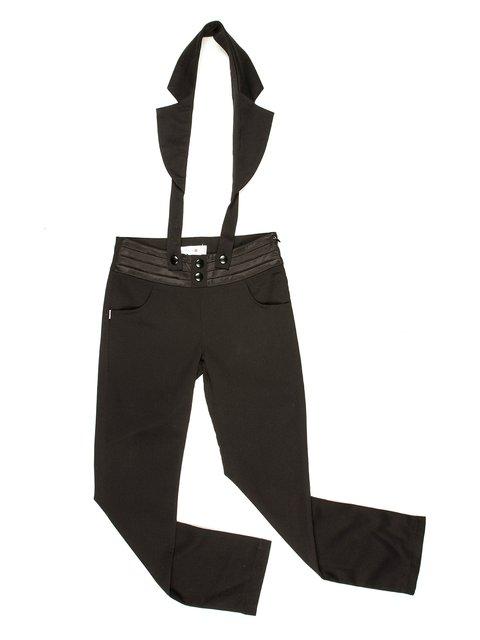 Штани чорні зі стилізованими підтяжками Olimpia 514113
