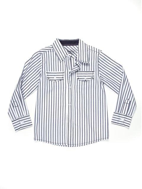 Сорочка двоколірна в смужку De Salitto 597232