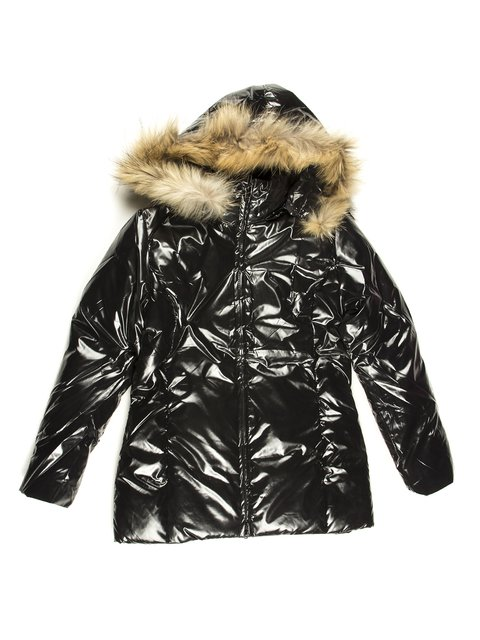 Пальто черное утепленное Stezo 712183