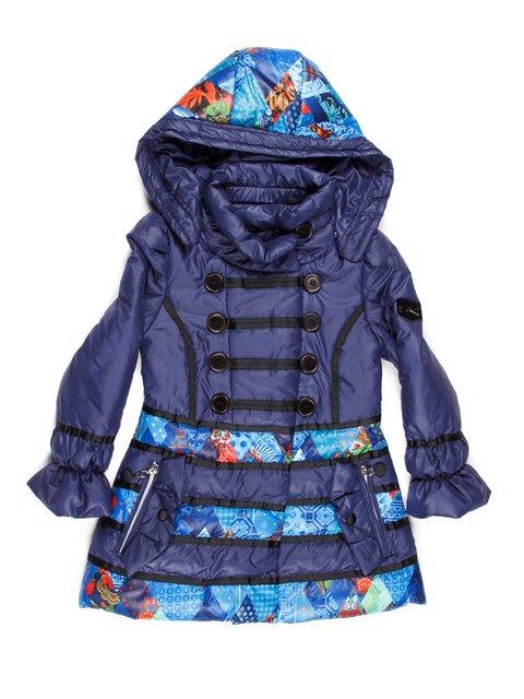Куртка синяя в принт с капюшоном Skorpian 765019