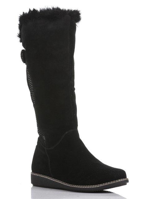Сапоги черные декорированные Belletta 804750